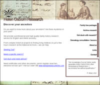 Helen Osborn Research, Archives, Genealogy