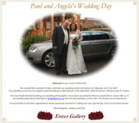 Wedding Day Photo Gallery website