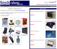Lloyds of London online gift shop